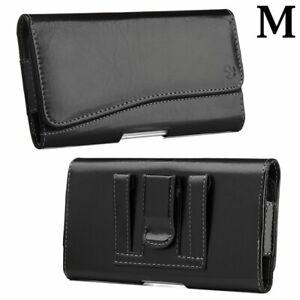 ZTE Blade T2 Lite Z559DL - Black PU Leather Pouch Belt Clip Holster Case Cover