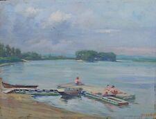 Badende am See,Impressionist um 1920,signiert