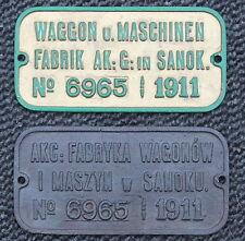 Builders plates, Fabrikschilder, KuK Galizien, Sanok 1911, Pärchen zweisprachig