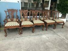 Set of 10 Mahogany Chippendale Style Dining chairs