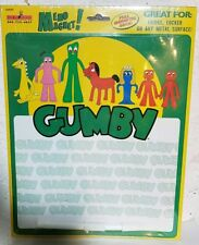 Gumby Magnetic Memo Board Frig Locker Any Metal Surface 2001 W Pen