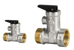 """Sicherheitsventil Überdruckventil Boiler 1/2"""" und 3/4"""" Gewinde"""