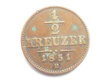 K650     HABSBURG 1/2 Kreuzer 1851 B