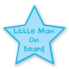 LITTLE MAN BABY ON BOARD BLUE STAR STICKER Boy Car Van Child Children Safety