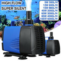 Submersible Water Pump Fish Tank Aquarium Pond Fountain Spout Feature Pump