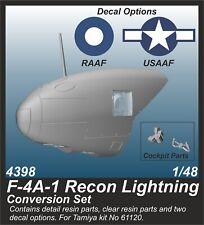 CMK SP4398 Resin 1/48 Lockheed F-4A-1 Recon Lightning Conversion TAMIYA