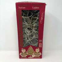 Vintage Italian Miniature Christmas Tree Chandlier Clear String Lights