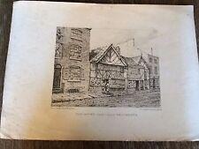1821 Litografía-Manchester-Edificios Antiguos últimamente adoptadas en Deansgate