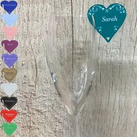 Wedding Place Cards 5 Guest Names Glass Table Settings Personalised Love Hearts