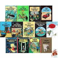 Adventures of Tintin 13 Books Set Collection Red Rackhams Treasure Series 3 To 5