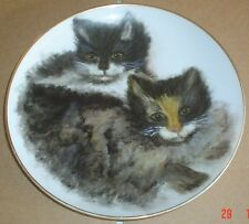 Stunning Collectors Plate Hand Painted By Sylvia Morley Cats