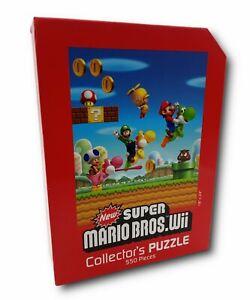 """Super Mario Bros Wii 550 Piece Collector 18x24"""" Puzzle Nintendo 2010 Complete"""