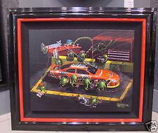 """*Michael Godard-""""NASBAR 500""""-Martini-NASCAR-Las Vegas-Martini-Racing-Art-FRAMED*"""