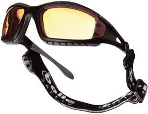 Bolle Tracker - sports safety glasses goggles with yellow lens - strap and arms