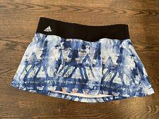 Adidas Climalite Womens Athletic Skort Blue And White Size Medium