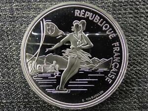 France 1992 Olympics, Albertville, Ice Skating 100 Francs .900 Silver Coin 1989