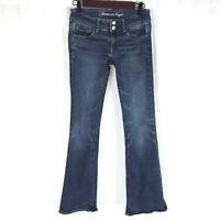 American Eagle Womens Jeans Artist Super Stretch Sz 2 Medium Wash Denim Blue AEO