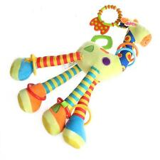 Animal Handbells Developmental Toy Soft Toys Rattle Giraffe Bed Bells Kids Baby