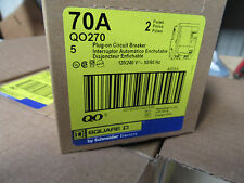 NEW IN BOX Square D QO270 Two Pole 70 Amp 120/240 Volts QO Circuit Breaker Plug