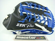 """New SSK Special Pro Order 13"""" Outfield Baseball / Softball Glove Black Blue RHT"""