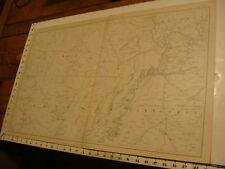 1890's Vintage CIVIL WAR MAP: plate CLIII General Topo Misouri, Arkansas, tenn