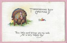 "Vintage Postcard ""Thanks Giving Day Greeting"", Posted"