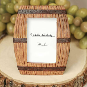 30-100 Wine Barrel Theme Place Card Photo Frame - Wedding Party Favor