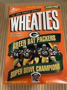 NFL Super Bowl XXXI Champion Green Bay Packers Full Wheaties Box Football 1997