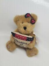 "Boyds Bear Plush - Cher N. Hugs - Thinking of You - Retired 8"" Gold Bear w/tag"