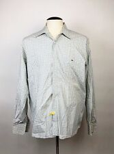 LACOSTE Mens Dress Shirt Size 44 Long Sleeve Shirt Poplin Check XL ? Career