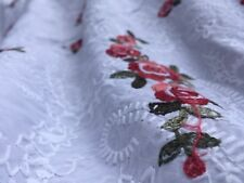 Broderie Anglaise on cotton lawn, 'Millie', dress fabric