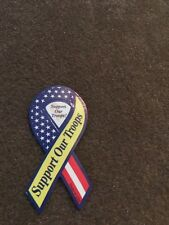 SUPPORT OUR TROOPS MINI RIBBON MAGNET CAR AUTO REFRIGERATOR KITCHEN