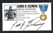 Moh Recipient James Fleming signed autograph auto Vietnam Air Force