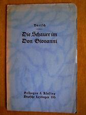 """""""il brivido nel Don Giovanni """"di Rudolf Hans Bartsch (1927)"""