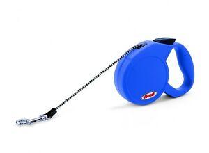 Leash Retractable Flexi Classic Basic Mini XS Rope 3 Metres 8 KG Max Blue