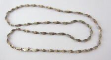 "Sterling Silver Two Tone Twist Chain Necklace DD .925 Italy 6mm 20"" Vintage"