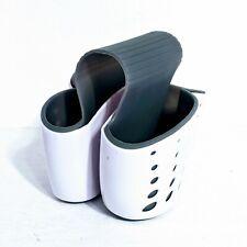 New listing Sink Caddy Sponge Holder Soap Holder, Eunion Plastic Saddle Faucet Caddy Desk