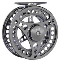 Goture Fly Fishing Reel 5/6/7/8/9/10 CNC Machined Large Arbor Aluminum Fly Reel
