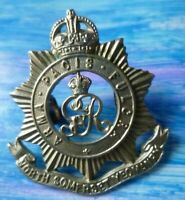 North Somerset Yeomanry COLLAR Badge GV 2 Lugs WM 33 mm ANTIQUE Original