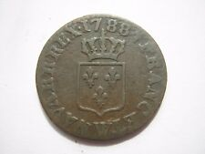 France 1788 W (Lille) 1 Liard coin (3)