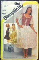 Vintage Simplicity sewing pattern no.5361 ladies dress size 12 unused