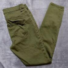 Joe Boxer Womens Olive Skinny Stretchy Jean Style Pants 7
