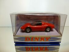DINKY TOYS DY-24 FERRARI DINO 246 GTS 1973 - RED 1:43 - VERY GOOD IN BOX