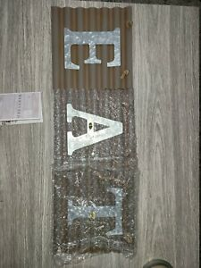 Barnyard Designs Eat Galvanized Metal Letter Tile Wall Sign, Primitive Country x