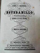 VIDA Y HECHOS DE ESTEBANILLO GONZALEZ HOMBRE DE BUEN HUMOR 1844 ILUSTRADO