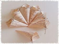 20 coni portariso vintage - porta riso note musicali shabby chic - confettata