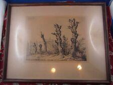 gravure XIXe arbres des fusillés lyonnais lors du siege en 1793 lyon thierriat