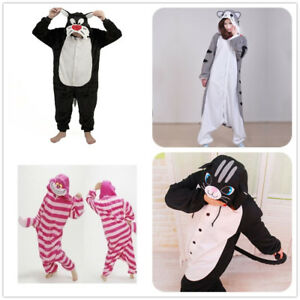 Cheshire Cheese Cat Onesiee Kigurumi Fancy Dress Costume Hoody Pyjamas Sleepwear