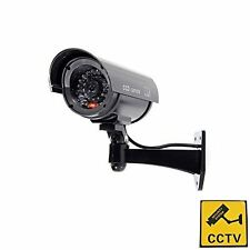 Fake Dummy Security Surveillance CCTV Red Flash Light IR Outdoor/Indoor Camera