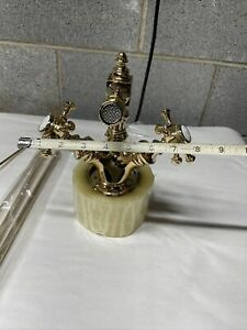 Waterworks Cross Handle One Hole Faucet Luxury Brass Rare Vintage  Farmhouse WOW